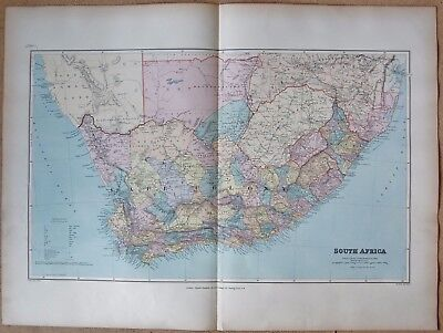 1896 Stanford Antique Map- South Africa