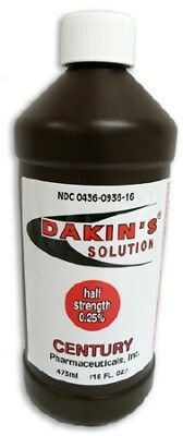 *NEW!* Dakins Solution Antimicrobial Wound Cleanser 16 oz. Bottle 1 Count