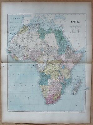 1896 Stanford Antique Map- Africa