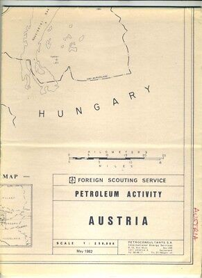 Austria Petroleum Activity Map 1982 Foreign Scouting Service Rightholders List