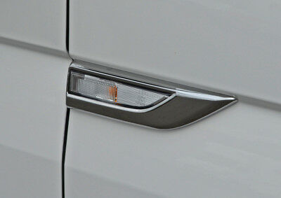To Fit VW T6 Transporter (2016+): Chrome Indicator Surround Trims