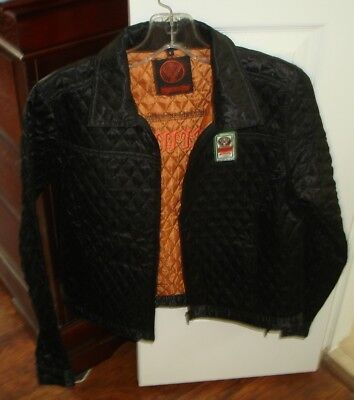 Black Quilted Jagermeister Zippered Jacket-Size S
