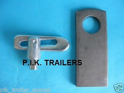 8mm dia. Lug Weld on Baby Antiluce Trailer Dropcatch Fastener & PLATE
