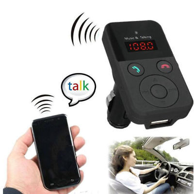 Wireless Bluetooth Hands-Free Car Kit FM Transmitter Modulator MP3 Player BT302E