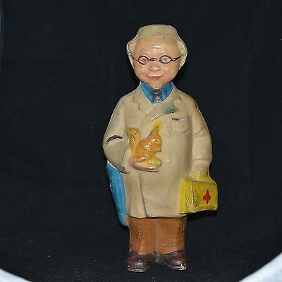 1950s  VTG SOVIET RUSSIAN DOLL TOY FIGURINE Rubber OLD doctor Red Cross squirrel