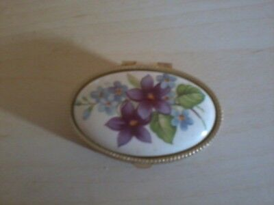 Lovely Floral Decorated Pill Box