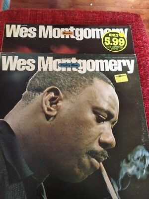 TWO.. WES MONTGOMERY  JAZZ LP,S.....PRETTY BLUE  and  MOVIN  BOTH DOUBLE,S