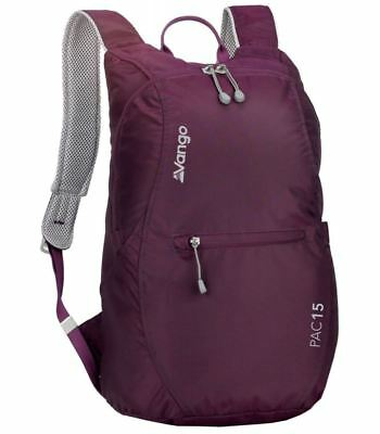Vango Pac 15 Litre Packable Compact Travel Bag Rucksack Backpack Daysack Purple