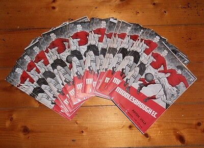 1968-69 MIDDLESBROUGH HOME FOOTBALL PROGRAMMES - Your choice - FREE Postage