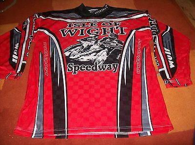ISLE OF WIGHT - SPEEDWAY long sleeved shirt/jersey m / L wulf sport EX