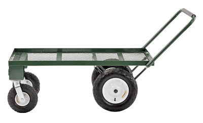 Sandusky FW4824 Heavy Duty Steel 4 Wheel Flat Wagon with Pull Handle, 750 lbs Ca