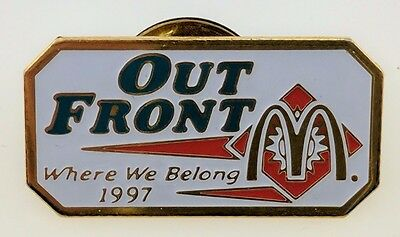 McDonald's Out Front Pin Employee Crew Where We Belong 1997 Promo VTG