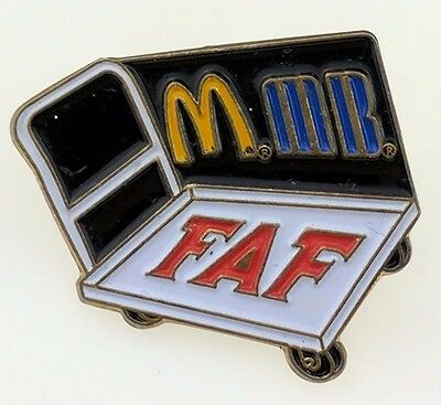 McDonald's F.A.F. pin Fast Accurate and Friendly employee training Crew Cart