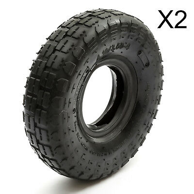 2 x Tyre 4.10 3.50-4 Tire 410/3.50-4 Electric 4 Inch 4'' Tire 350x4 410x4 2 Ply