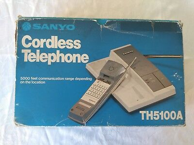 SANYO TH-5100A Vintage Cordless Telephone !!!