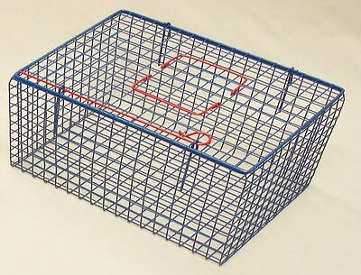 Blue Cat Basket  Pet Carrier Wire Mesh Plastic Coated Hygienic Manufacturing