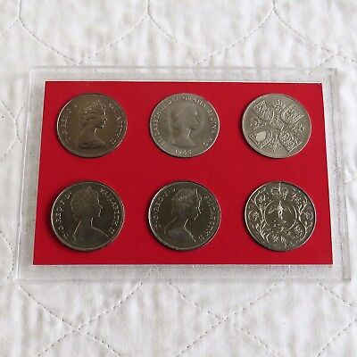 1953 - 1981 GREAT BRITAIN 6 CROWN COLLECTION - cased