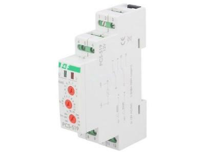 pcs-519-12v Timer 0,1s ÷24days DPDT 12VAC 12VDC DIN -25 ÷ 50°C IP20 pcs-51912v