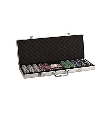 Poker Set In Aluminum Case With 500 (11.5 Gram) Dice Style Chips