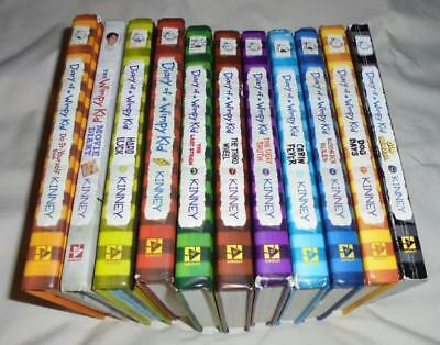 HUGE set of 11 Diary of a Wimpy Kid books by Jeff Kinney (10 hardcovers)