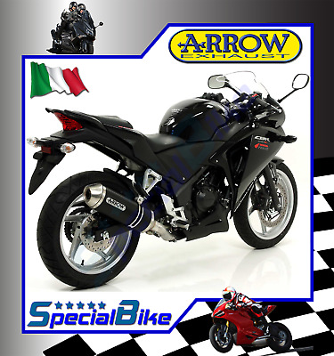 Scarico Completo Honda Cbr 250 R 2011 > 2013 Arrow Race Tech Dark Coppa Inox Kat