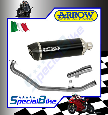 Scarico Completo Honda Nc 700 X 2012 > 2013 Arrow Race Tech Alluminio Dark Carby
