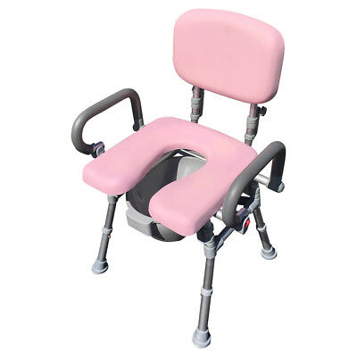 UltraCommode™ Comfortable Bedside Commode Bath Shower Chair Foldable Adjustable