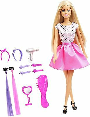 New Barbie Doll Style Your Way With Hair Accessories Play Set DJP92