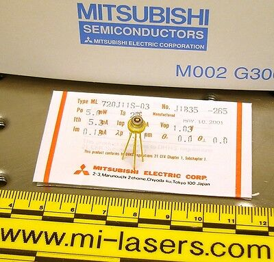 LOT of 5, NEW MITSUBISHI ML720J11S DFB LASER DIODE 1310nm infrared 1.3um, 5mW