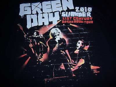 official GREEN DAY t shirt-2010 21ST CENTURY BREAKDOWN TOUR-chicago-NEW NWOT-(L)