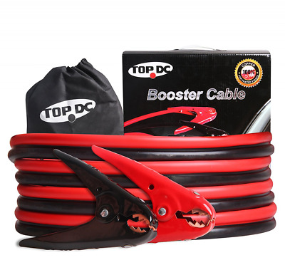 TOPDC 100% Copper Battery Jumper Cables 4 Gauge 20 Feet 300AMP with Carry Bag an