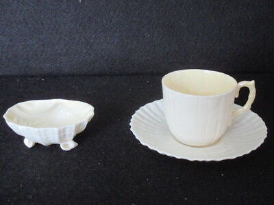 Belleek Shell Dish And Small Cup & Saucer