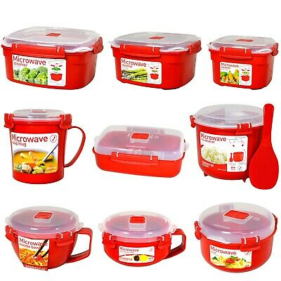 Sistema Microwave Lunch Box Bowl Porridge Steamer Soup Mug