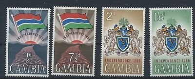 Gambia 1965 Independence MiNr. 201 - 204  MNH / **