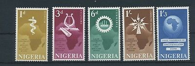 Nigeria 1962 Conference for Africa MiNr. 114 - 118 MNH / **