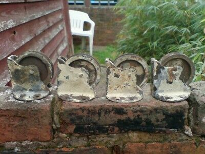 Antique GEORGIAN/VICTORIAN ? CAST IRON SASH WINDOW PULLEY  WHEELS, 1 PAIR.