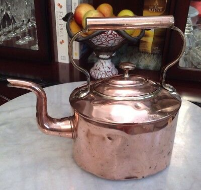 Victorian 6 Pint Copper  Kettle - Stamped W Soutter & Sons, Birmingham