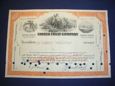 United Fruit Company, 1967 shares, 3 vignettes, MUST HAVE