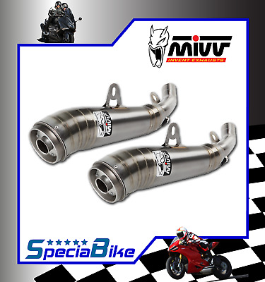 Exhaust Mivv Ghibli Stainless Steel Kawasaki Z 1000 2008 2 Slip-On Silencers