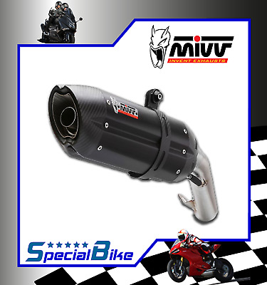 Exhaust Mivv Suono Steel Black Triumph Tiger 800 2012 Slip-On Silencer