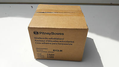 Franking Machine Self Adhesive labels Pitney Bowes Rolls - 3 Pack, 613-H