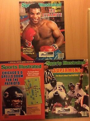 Assorted Sports Illustrated Magazines from 1986; MIke Tyson, Super Bowl XX