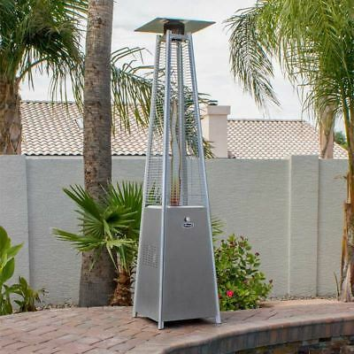 "AZ 91"" 231cm XL Designer Pyramid Patio Heater Stainless Steel"