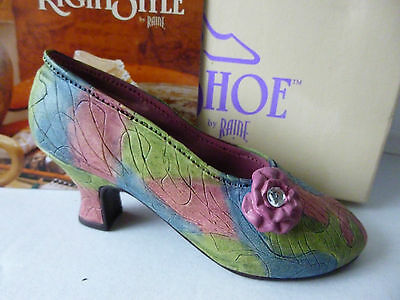 Unused Boxed Just The Right Shoe by Raine Rose Court Shoe Ornament-Lovely Item