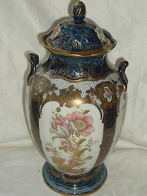 Antique Porcelain Losol Ware Bourbon Vase With Lid Stunning