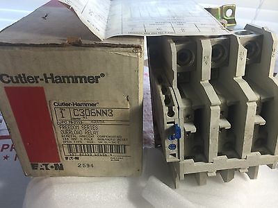 Cutler-Hammer C306NN3 Freedom Series Overload Relay 144 Amp New