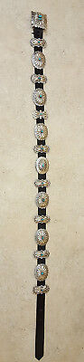 Nice Ladies Old Silver 15 Concho Turquoise Native American Indian Belt & Buckle