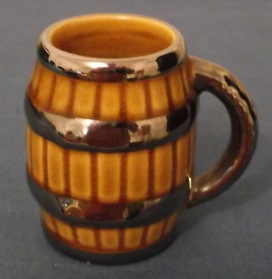 Vintage Wade Collectable – Miniature Beer Barrel Shaped  Tankard