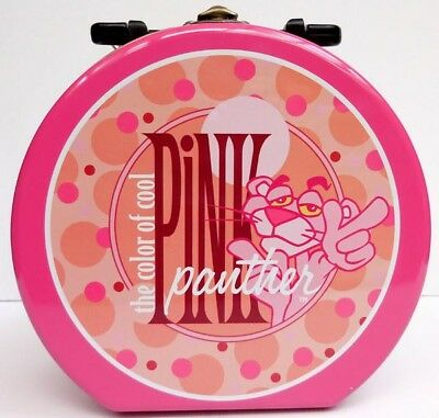 Pink Panther Round Keepsake Tin With Plastic Handle, Item #65082