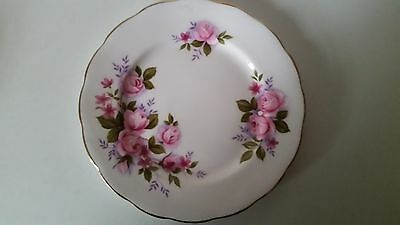Queen Anne Tea Set Bone China Pink Rose Cake Plate Side Plate 16cm - Replacement